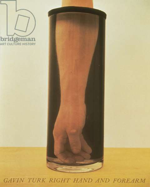 Gavin Turk Right Hand and Forearm, 1992 (silkscreen on paper)