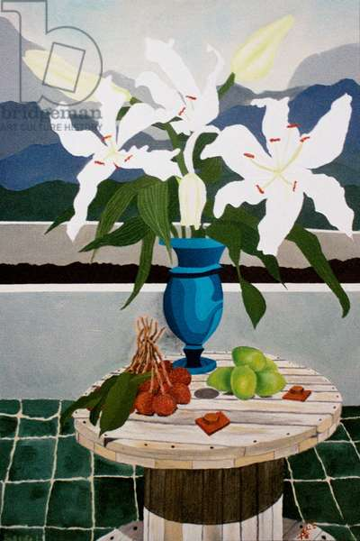 Lily, lime and lychee, 2004, oil on canvas