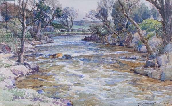 River in Devonshire, 1946 (w/c on paper)
