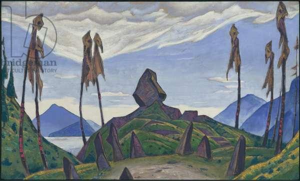 Backdrop for Stravinsky's ballet, 'Le Sacre du Printemps', 1930 (tempera on canvas)