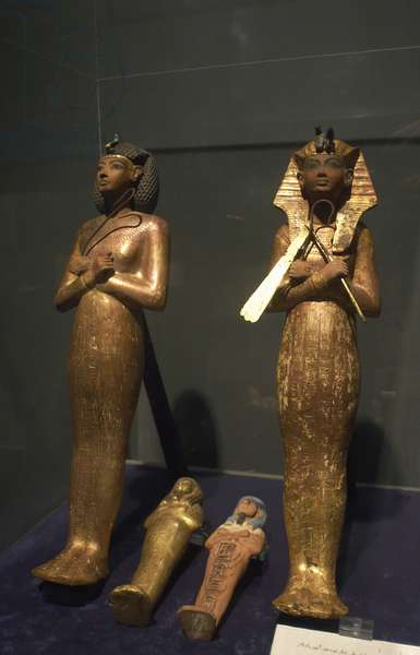 Statuettes from the tomb of Tutankhamun.