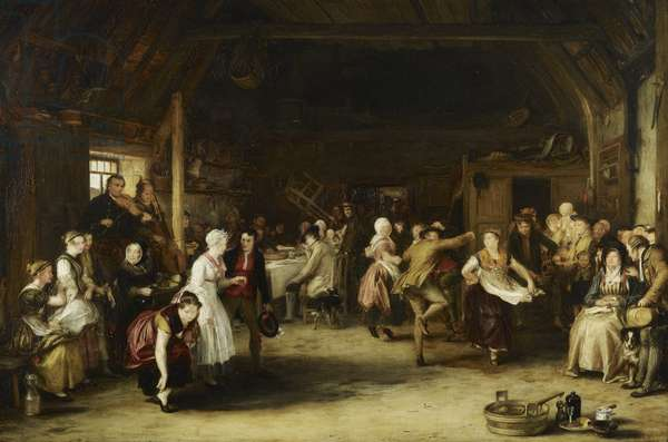 The Penny Wedding, 1818 (oil on panel)