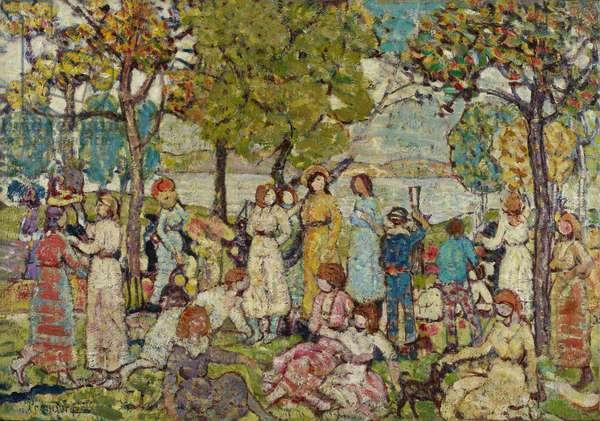 Holidays, c.1920 (oil on canvas)