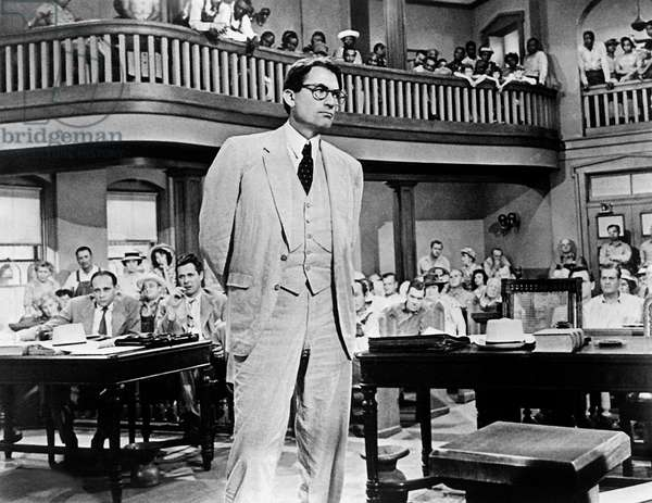 To Kill a Mockingbird, directed by Robert Mulligan, starring Gregory Peck 1962