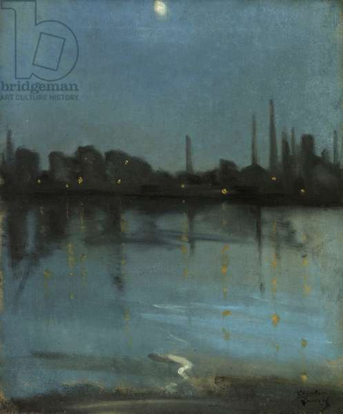 Battersea and the Thames from Chelsea, c.1890 (oil on canvas)