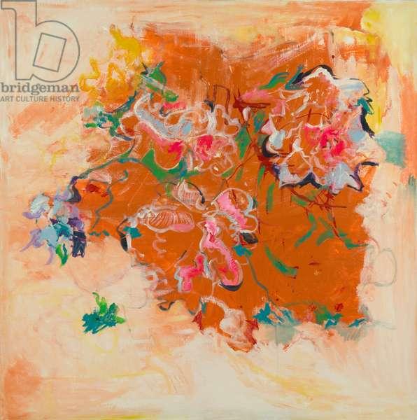 Orange - Abstract, 2012 (mixed media on canvas)