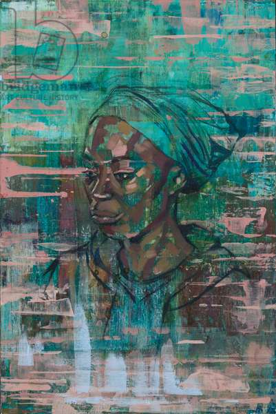 Aduwa (oil on canvas board)