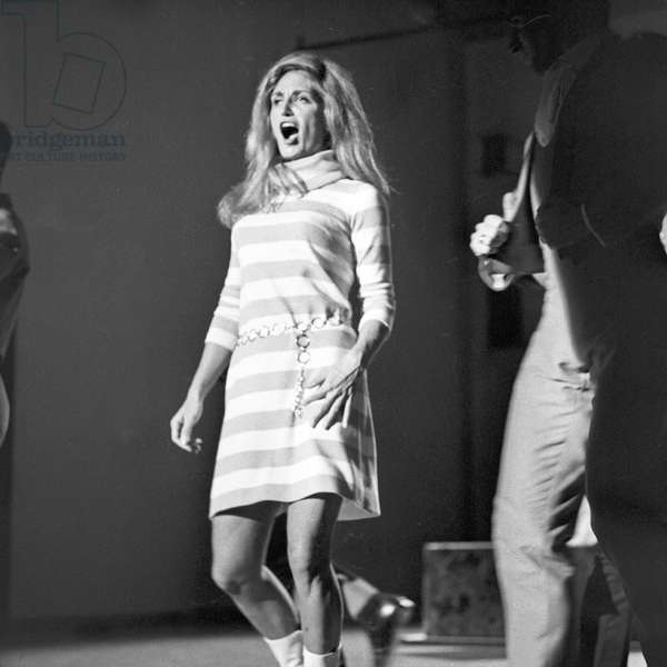 French actress and singer Dalida performing, Germany 1960s