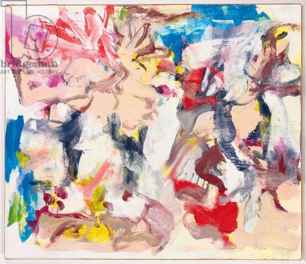 East Hampton VII, 1976 (oil on paper laid down on canvas)