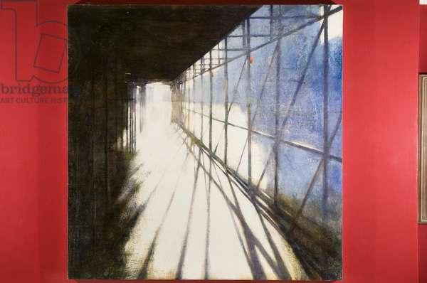 Scaffolding (oil on canvas)