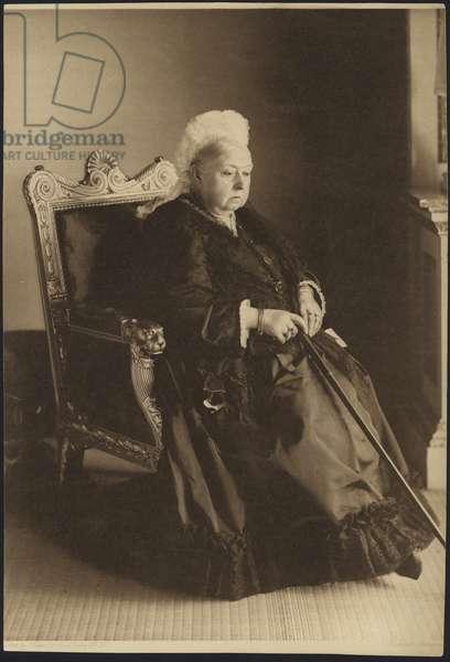 Portrait of Queen Victoria (b/w photo)