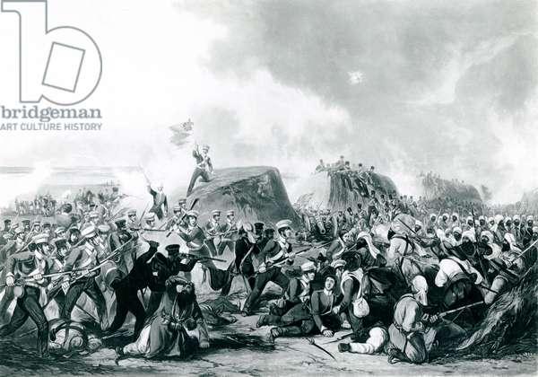 The Battle of Sobraon 10 February 1846 (aquatint)