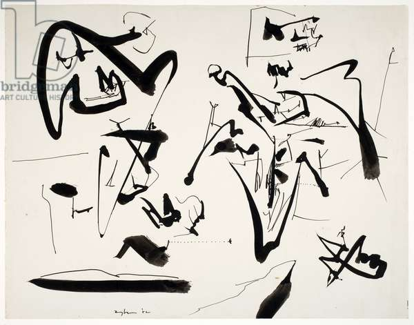 Untitled, 1952 (brush & ink on paper)