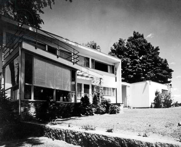 House of Walter Gropius in Lincoln (Massachussetts) by Walter Gropius et Joseph Breuer 1938 (Bauhaus style)