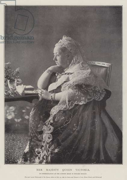 Her Majesty Queen Victoria (b/w photo)