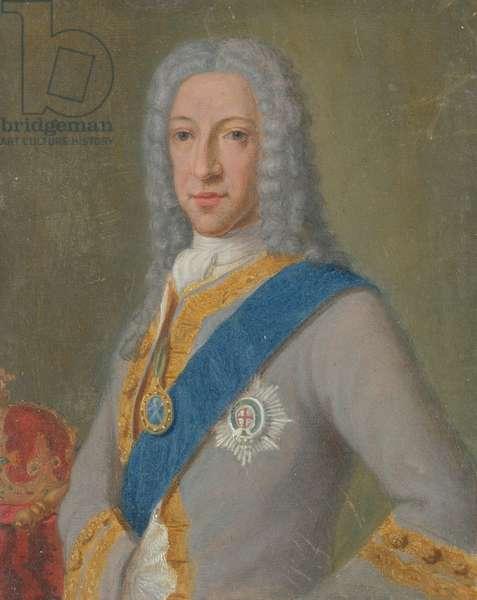 Portrait of Old Pretender James III (pastel on paper)