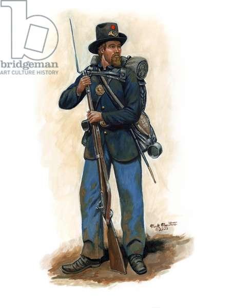 Indiana Iron Brigade Soldier 1863, 2021 (w/c & gouache on bristol)