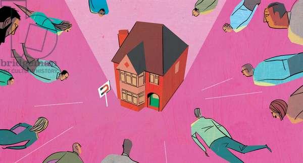 House market magnet, 2014, (mixed media)