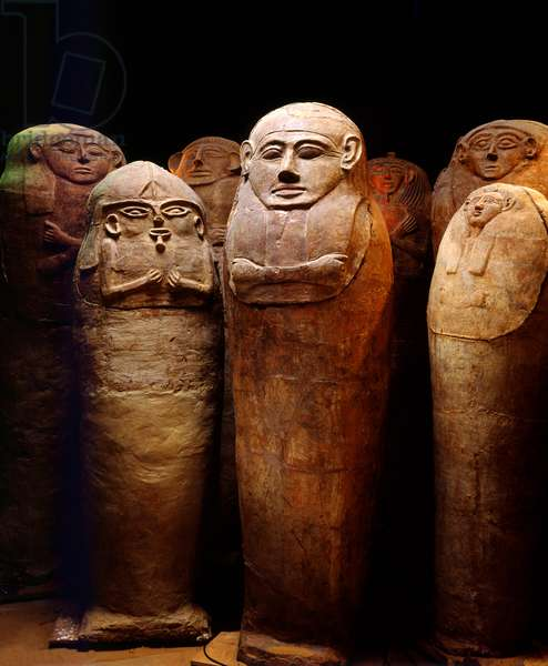Anthropoid sarcophagi from the cemetery at Deir el-Balah, Late Canaanite period, 13th-14th century BC (ceramic)