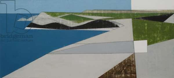 Field Edge 5 2008 60x122cms acrylic on plywood
