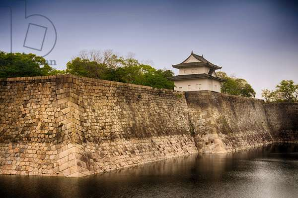 Osaka Castle (16th century), outer walls with Ichiban Yagura Turret, Osaka,  Osaka Prefecture (???, ?saka-fu), Honshu Island, Japan (photo)