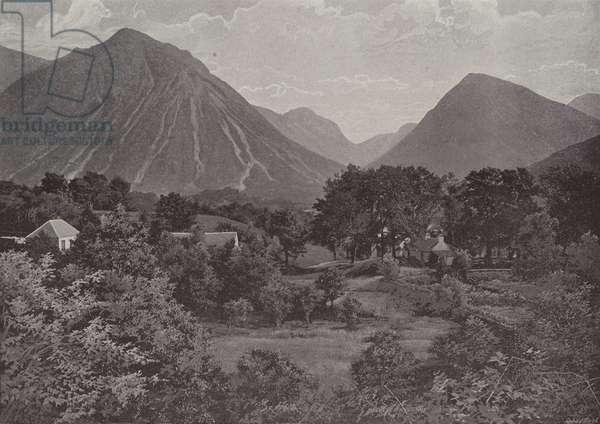 Glencoe, Scene of the Massacre (b/w photo)