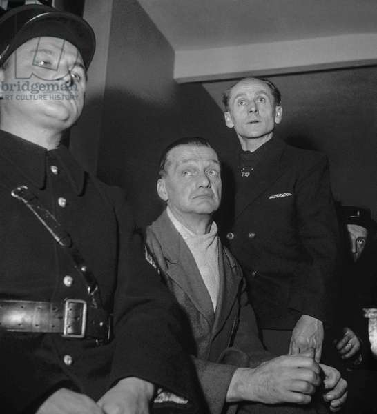 Trial of SS Adam Adler and Heinrich Evers (Aurigny concentration camp), Paris, November 21, 1949 (b/w photo)