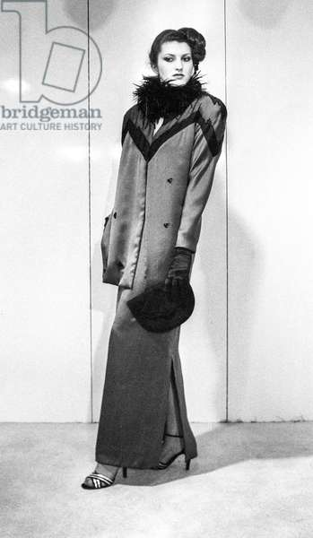 Torrente fashion, Fall/Winter 79/80, Paris, July 17, 1979 (b/w photo)