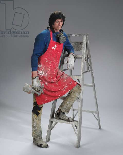Artist with Ladder, 1972 (polychromed polyester resin and fiberglass, mixed media, with accessories)