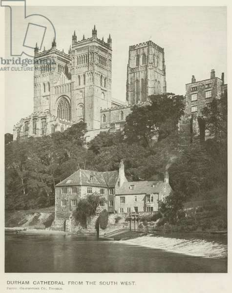 Durham Cathedral from the South West (b/w photo)