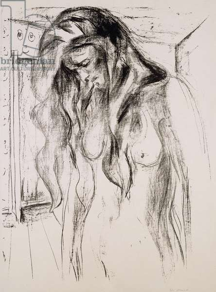 Crying Girl; Weinendes Madchen, 1920 (lithograph)