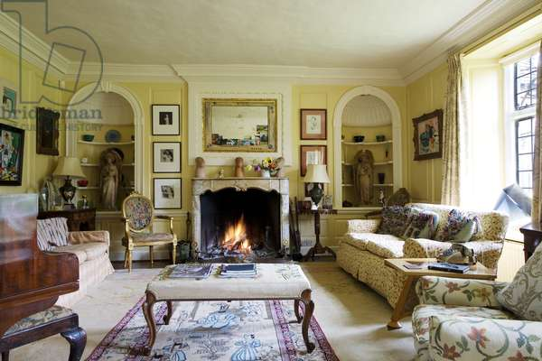 The Drawing Room at the Old Rectory, Quenington (photo)