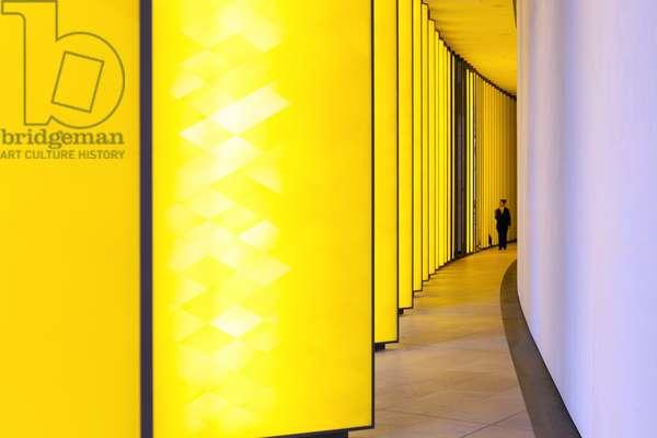 Art installation 'Inside the horizon' by Olafur Eliasson, The Fondation Louis Vuitton, Bois de Boulogne, Paris, France , 2015 (photo)