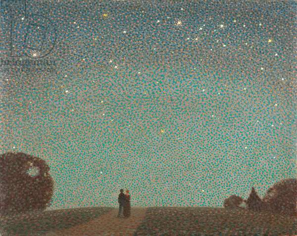 Over the Horizon - a Jersey Nocturne, 1948 (oil on canvas)