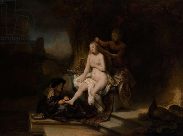The Toilet of Bathsheba, 1643 (oil on wood)
