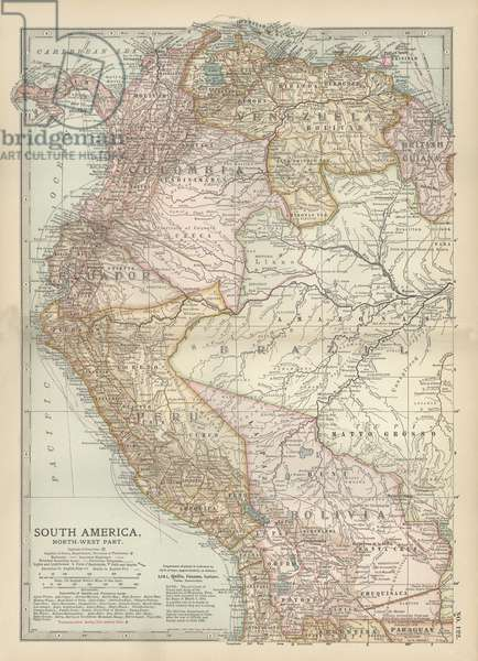 Map of the northwestern part of South America