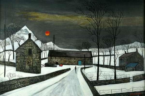 Welsh Farm, c.1950 (oil on canvas)