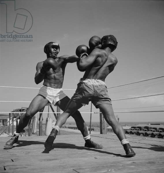 Boxing Match, Part of Physical Training Program, Air Service Command, Daniel Field, Georgia, USA, July 1943