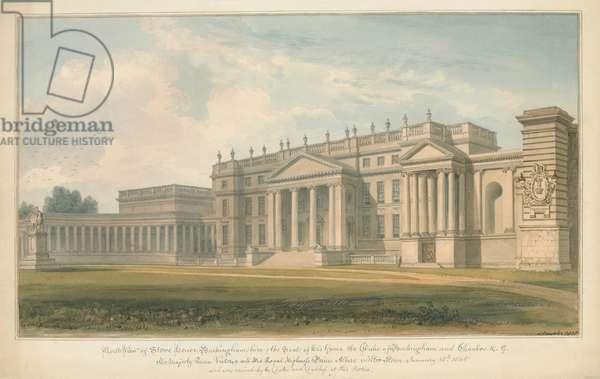 Buckinghamshire - Stowe House, 1815 (w/c on paper)