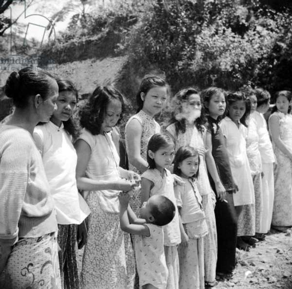 Japan / Malaysia / India: Chinese and Malay girls forcibly taken from Penang by the Japanese to work as 'comfort girls' in the Japanese-occupied Andaman Islands
