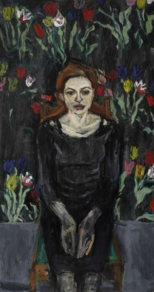 Spring Portrait, (acrylic and oil on canvas)