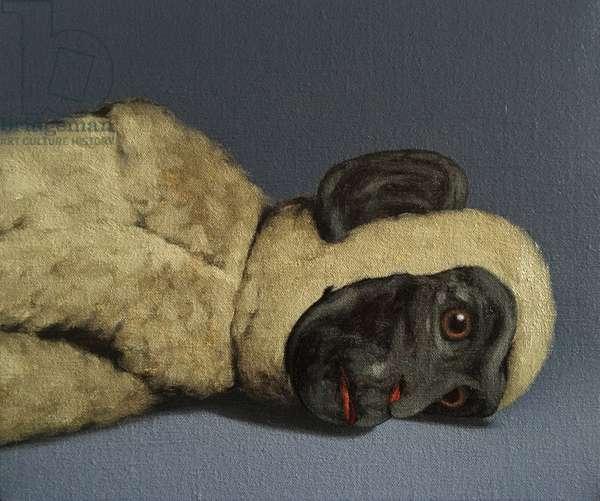 Monkey Still-Life, 2016, (oil on canvas)
