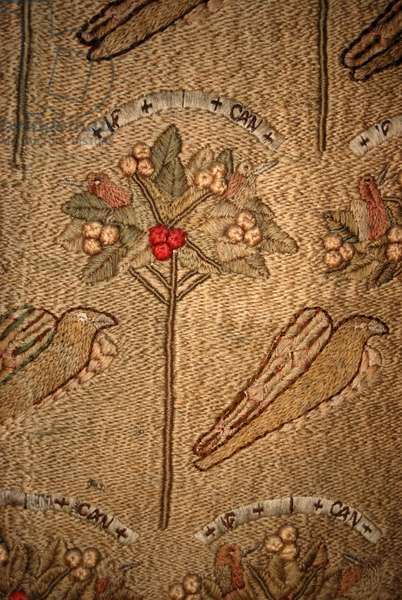 Detail of 'If I Can', 1857 (embroidery)