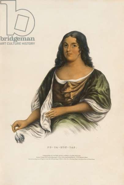 Pocahontas (c. 1595-1617), 1842 (lithograph)