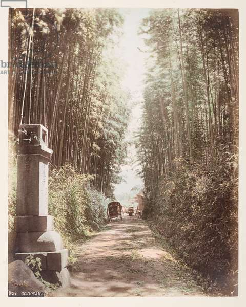 Gojiosaka, from A Book of Coloured Photographs of views in Japan, 1895 (coloured photo)