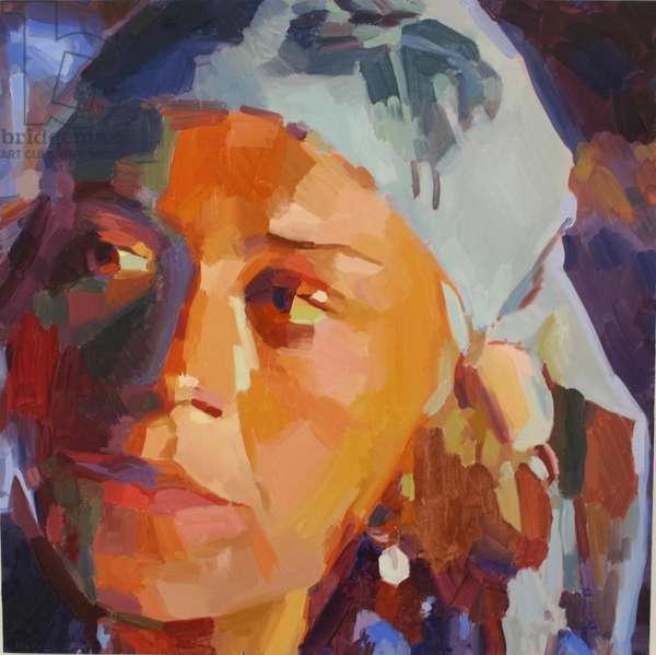 'Eye Am 3', 2010, (oil on primed aluminium)