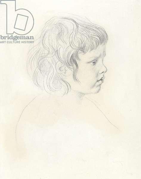 Profile head of David as a child, c.1904 (graphite on paper)