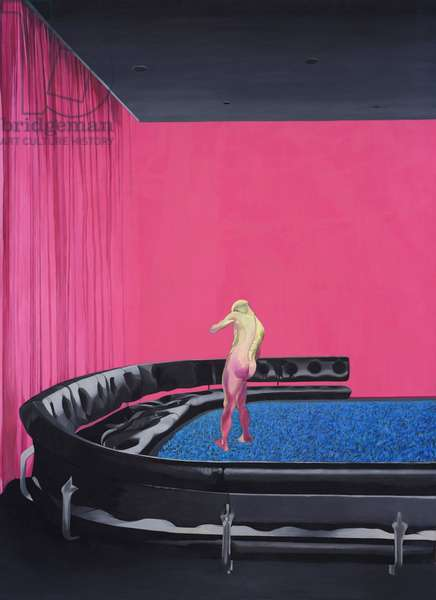 Figure with Black Couch, 1968 (oil on canvas)