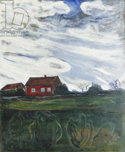 The Red House, 1902-05 (oil on card)