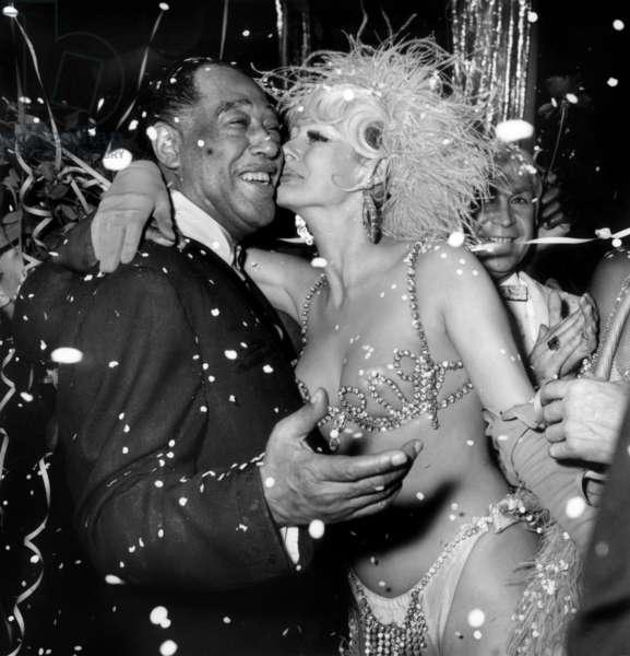 Duke Ellington at the Alcazar (Gala for his 70 birthday), Paris, 21 November 1969 (photo)